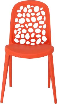 Earlene Plastic Side Chair Finish: Orange