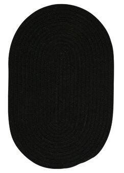 Navarrette Black Area Rug Rug Size: Round 8'