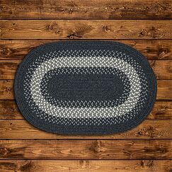 Serafin Hand-Woven Wool Charcoal Area Rug Rug Size: Oval 4' x 6'