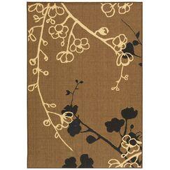Laurel Brown Natural/Black Outdoor Rug Rug Size: Rectangle 2' x 3'7