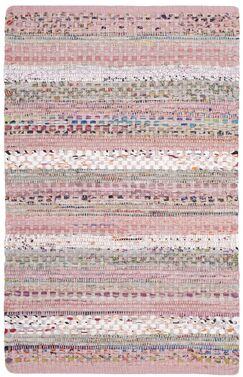 Vesey Hand-Woven Pink/Blue Area Rug Rug Size: Rectangle 5' x 8'