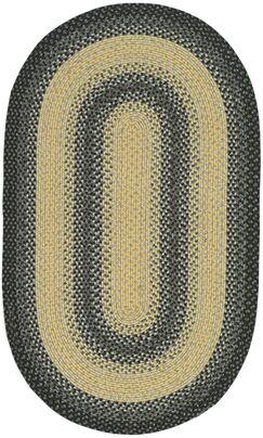 Georgina Hand-Woven Black/Grey Area Rug Rug Size: Oval 4' x 6'
