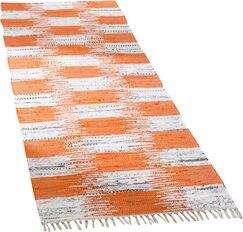 Opie Hand-Woven Orange/Gray Area Rug Rug Size: Runner 2'3