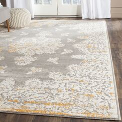 Auguste Gray/Ivory Area Rug Rug Size: Rectangle 4' x 5'7