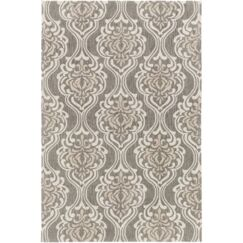 Bastien Hand-Hooked Forest/Ivory Area Rug Rug Size: Rectangle 5' x 7'6