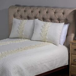 Richmond Hill Sham Color: Ivory, Size: Standard