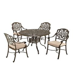 Kuna 5 Piece Dining Set with Cushions Size: 42