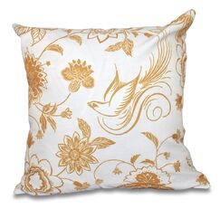 Cecilia Traditional Bird Floral Outdoor Throw Pillow Size: 18