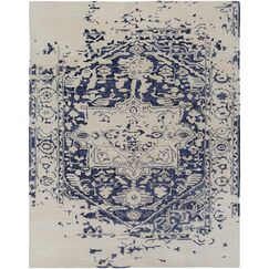 Pearl Hand-Tufted Blue/Beige Area Rug Rug Size: Rectangle 12' x 15'