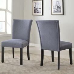 Plott Side Chair Upholstery Color: Grey, Finish: Black
