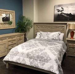 Patchway Carved Panel Bed Size: King