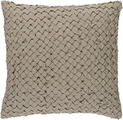 Marine Linen Throw Pillow Color: Taupe, Size: 20