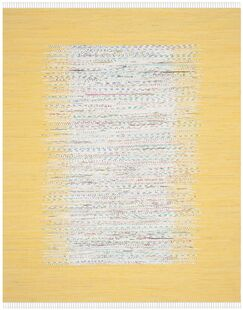 Ona Hand-Woven Cotton Ivory/Yellow Area Rug Rug Size: Rectangle 6' x 9'