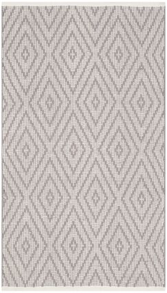 Alastair Hand-Woven Grey/Ivory Area Rug Rug Size: Rectangle 4' x 6'