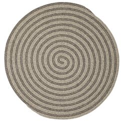 Cadenville Hand-Woven Gray Area Rug Rug Size: Round 10'