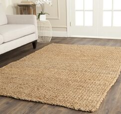 Calidia Hand-Loomed Gold Area Rug Rug Size: Rectangle 8' x 10'