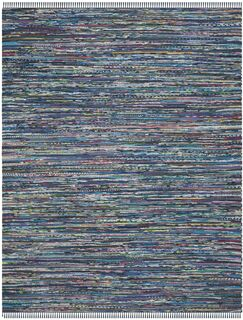 Eastport Hand Woven Cotton Blue Area Rug Rug Size: Rectangle 6' x 9'