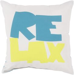 Chaucer Just Relax Outdoor Throw Pillow Color: Taupe/Sky Blue, Size: 20