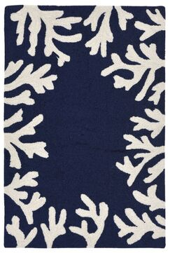 Claycomb Hand-Tufted Navy Indoor/Outdoor Area Rug Rug Size: Rectangle 2' x 5'