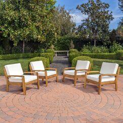 Gaia Wooden Armchair Upholstery: Beige