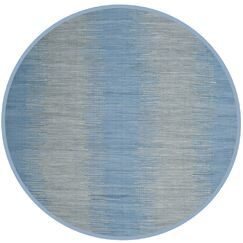 Cayman Hand-Woven Blue/Gray Area Rug Rug Size: Rectangle 8' x 10'