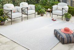 Sullivan Gray Indoor/Outdoor Area Rug Rug Size: Rectangle 5'3