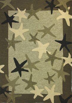 Coeymans Starfish Field Indoor/Outdoor Rug Rug Size: 5' x 7'