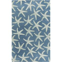 Clare Hand-Tufted Denim/Khaki Area Rug Rug Size: Rectangle 3'3