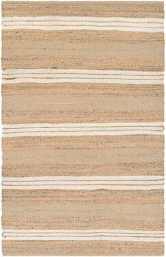 Fairfax Hand-Loomed Ivory Area Rug Rug Size: Rectangle 4' x 6'