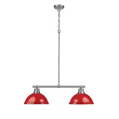 Bodalla 2-Light Kitchen Island Pendant Finish: Pewter with Red Shade