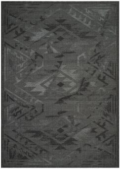 Black/Gray Area Rug Rug Size: Rectangle 8' x 10'