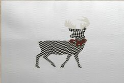 Christmass Gray Indoor/Outdoor Area Rug Rug Size: Rectangle 2' x 3'
