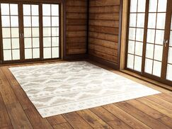 Manderson Hand Woven Gray/Beige Area Rug Rug Size: Rectangle 8' x 11'