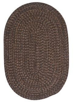 Abey Bark Brown/Tan Area Rug Rug Size: Oval 12' x 15'