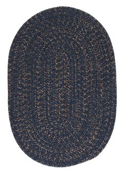 Abey Navy & Blue Area Rug Rug Size: Oval Runner 2' x 6'