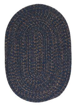 Abey Navy & Blue Area Rug Rug Size: Oval 2' x 3'