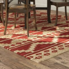 Columbia Hand-Woven Red Area Rug Rug Size: Rectangle 5' x 8'