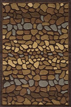 Baileyville Hand-Tufted Brown Area Rug Rug Size: Rectangle 5' x 7'6