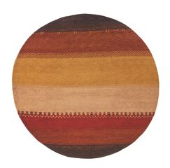 Havsa Desert Gabbeh Hand-Knotted Red/Yellow Area Rug Rug Size: Rectangle 3'9