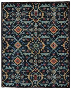 Appistoki Hand-Tufted Blue Area Rug Rug Size: Rectangle 5'6