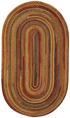 Kaweah Hand-Braided Wool Brown Area Rug Rug Size: Concentric 8' x 11'