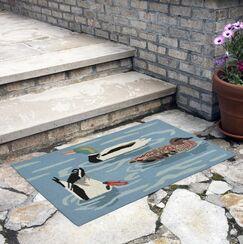 Tamara Duck Life Hand-Tufted Blue Indoor/Outdoor Area Rug Rug Size: Rectangle 2'6
