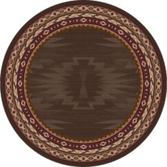 Bushley Brown Area Rug Rug Size: Round 8'