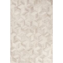 Brittanie Hand-Tufted Ivory/Gray Area Rug Rug Size: 2' x 3'