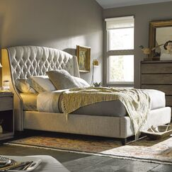 Julesburg Upholstered Panel Bed Size: King, Color: Beige