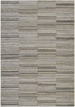 Napa Black/Gold Indoor/Outdoor Area Rug Rug Size: Runner 2'3