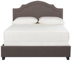 Avanley Upholstered Panel Bed Size: Full, Color (Upholstery/Nailhead): Light Gray/Silver