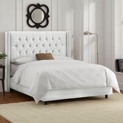 Allbright Upholstered Panel Bed Color: Velvet White, Size: King