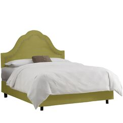 Roselare Upholstered Panel Bed Color: Sage, Size: California King