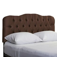 Davina Shantung Arch Upholstered Panel Headboard Size: California King, Color: Shantung Chocolate